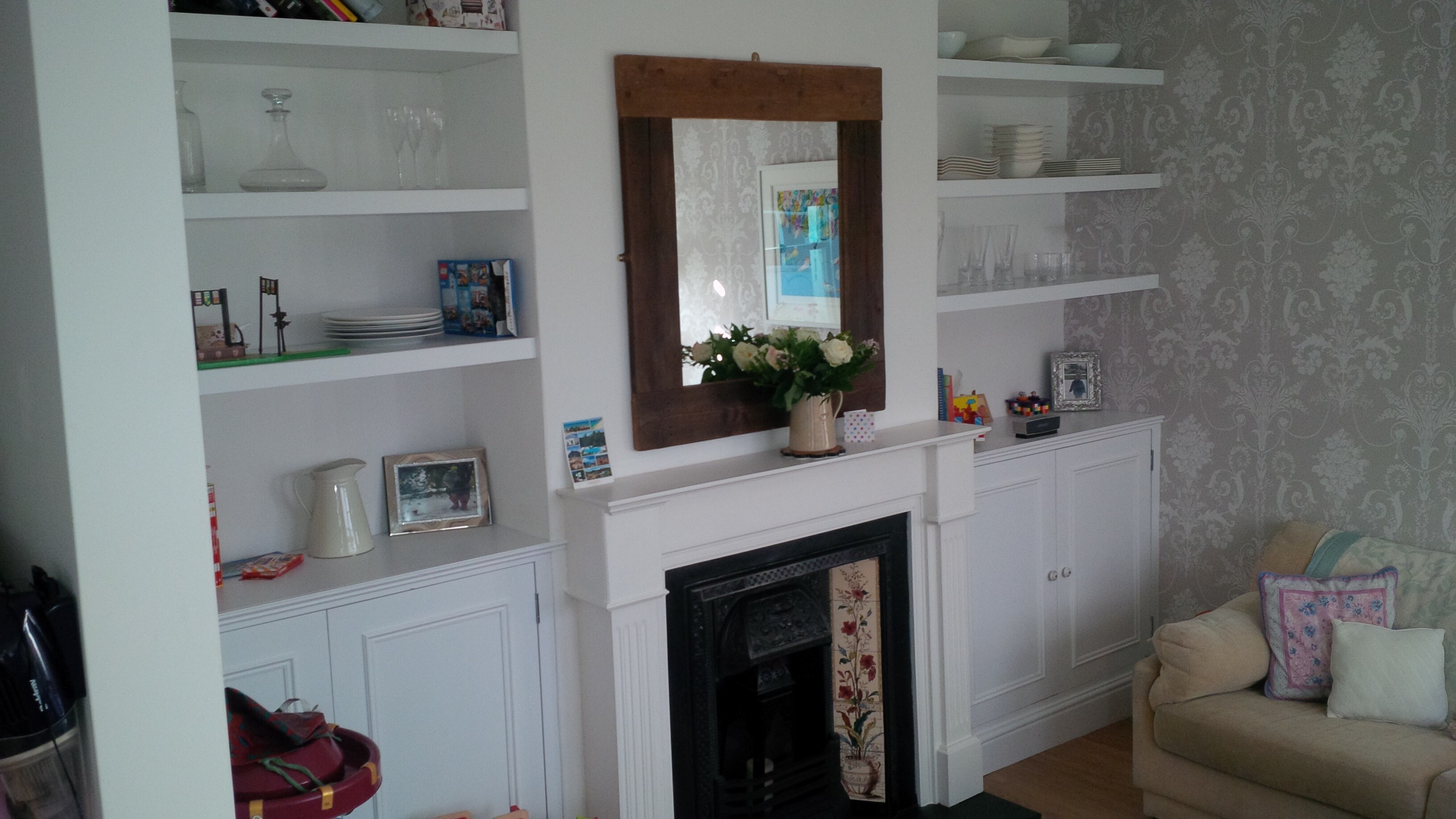 Bespoke alcove cupboards & shelving | Surrey Joinery ...