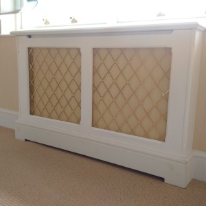 Bespoke brass grille radiator cover